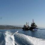 Обгоняем рыболовецкие суда. Турция-2013