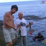 На море вместе с родственниками. Счастливое время. Старший сын и дядька. ЮБК-2013
