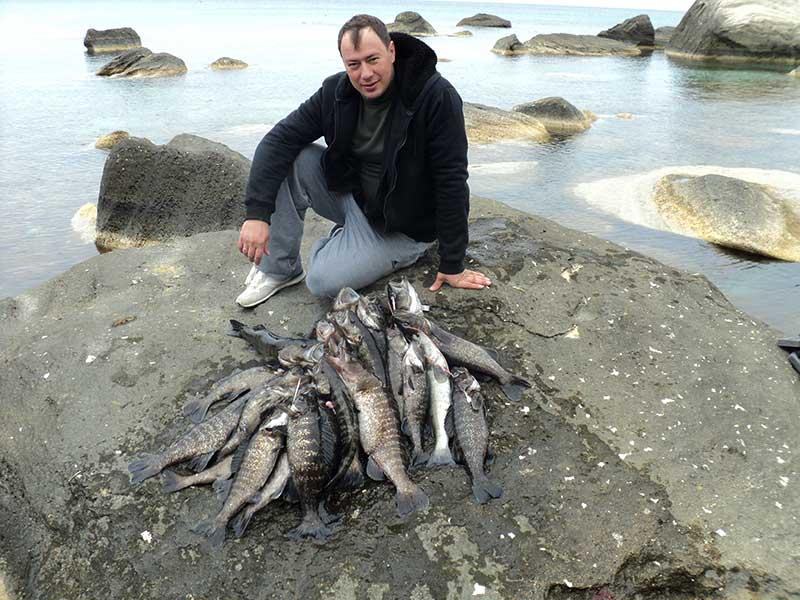 ловля осетра на море видео
