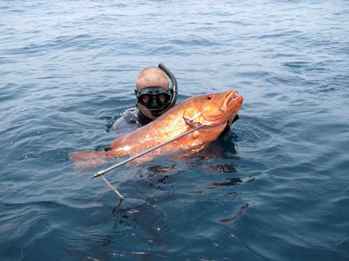 подводная охота в Африке